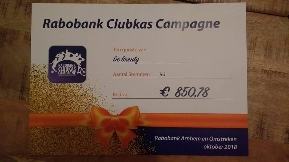 Rabobank Clubkas resultaat